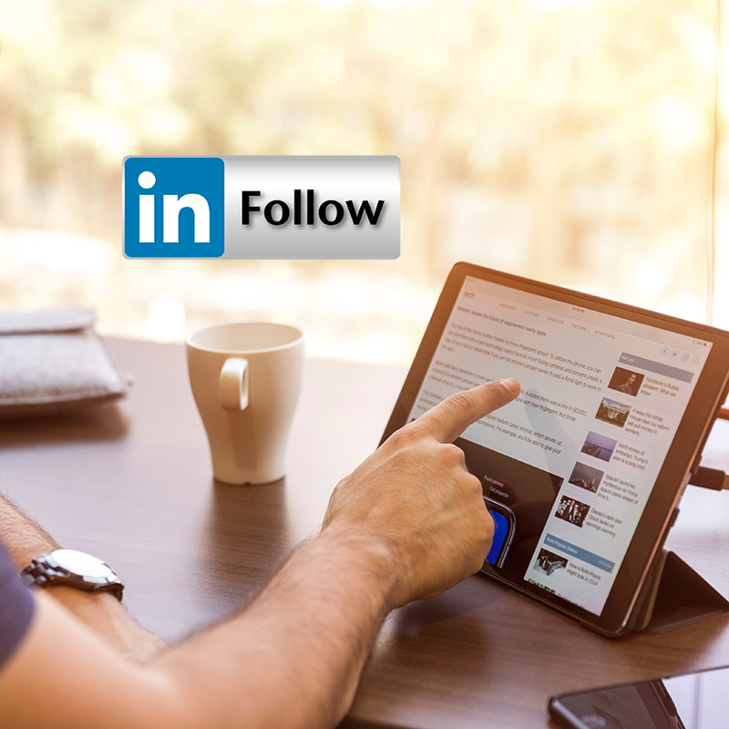Linkedin Follow Button Blog
