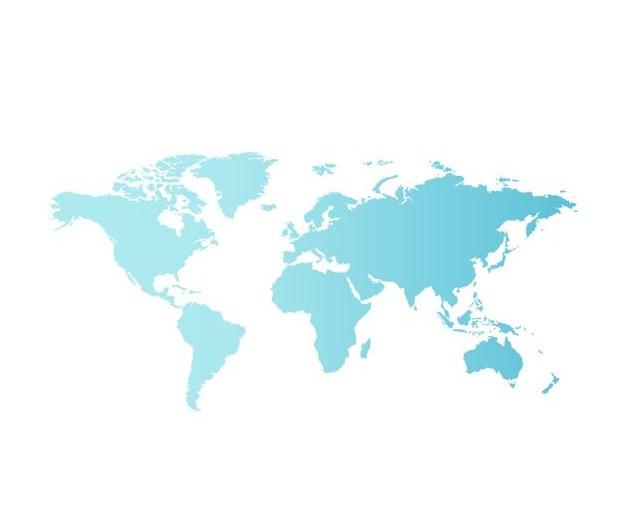 Blue World Map 23 2147501019