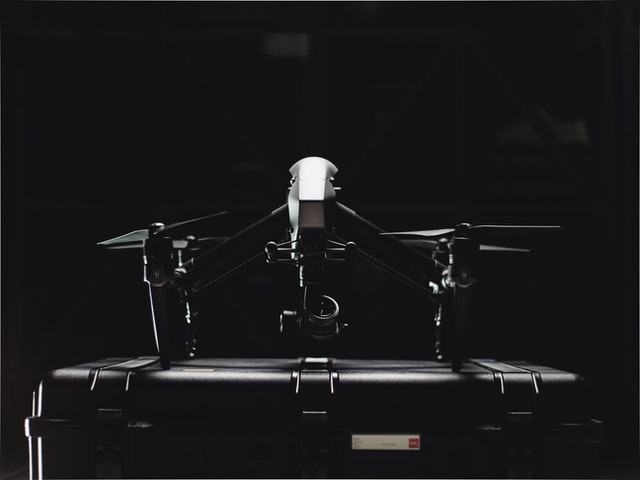 Black And White Photo Of Drone 2050718