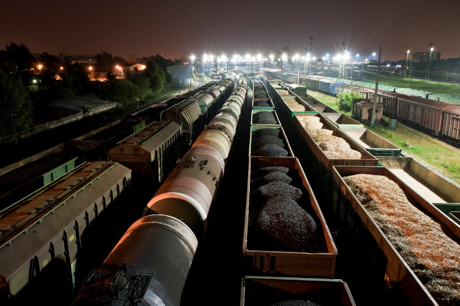Cargo Freight Station At Night (Small)