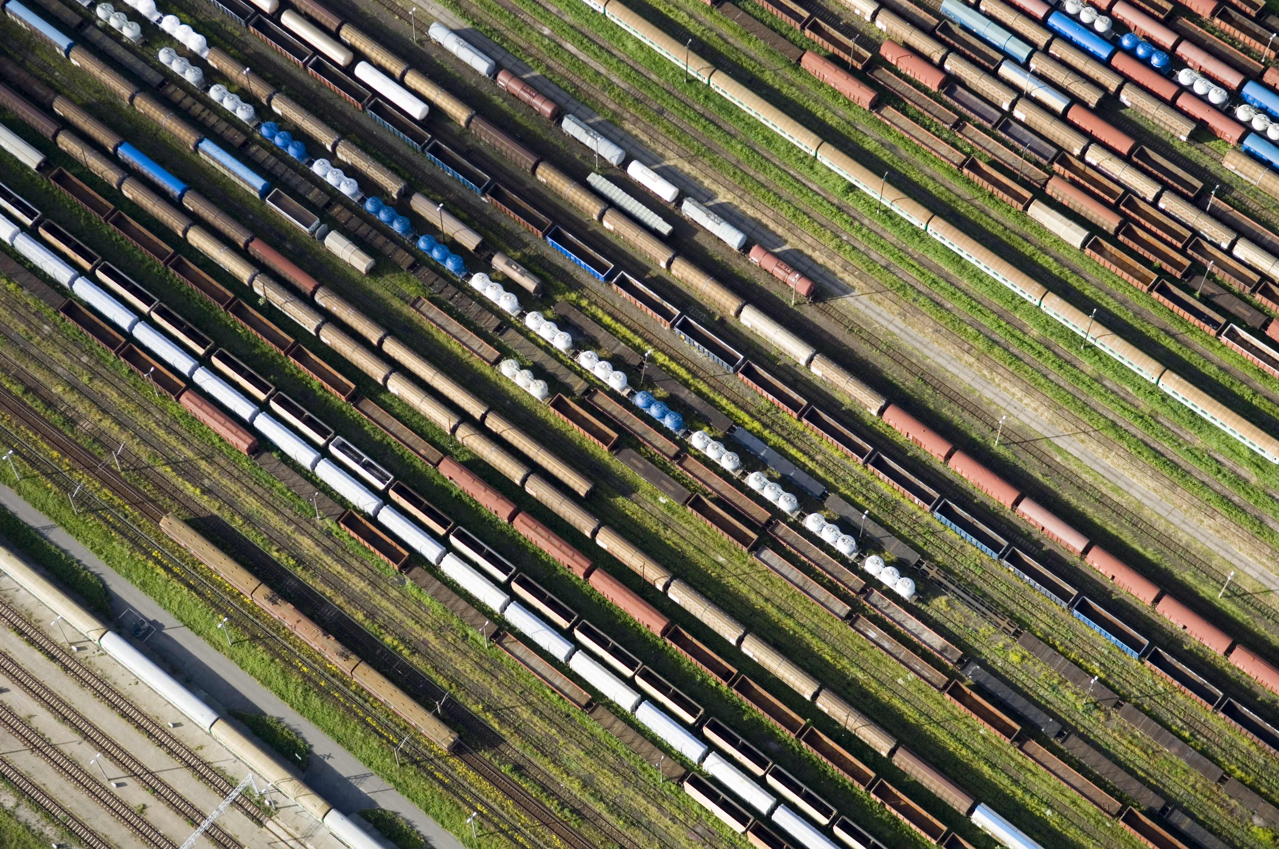 Arial View of a Rail Park