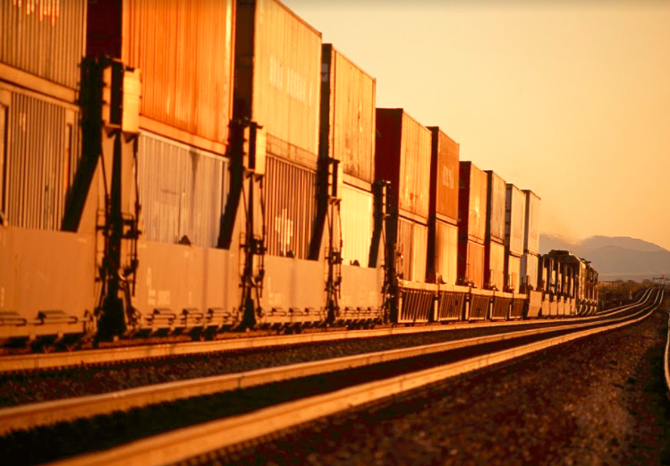 Freight Trains With Containers