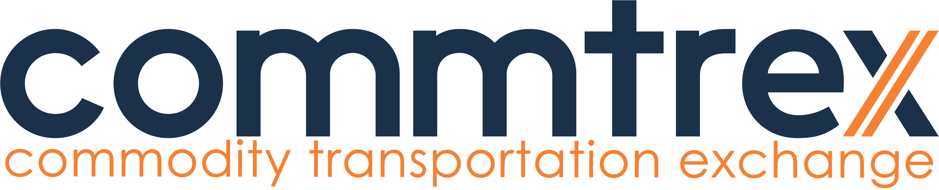 Blue Commtrex Tagline Logo (Transparent Background)