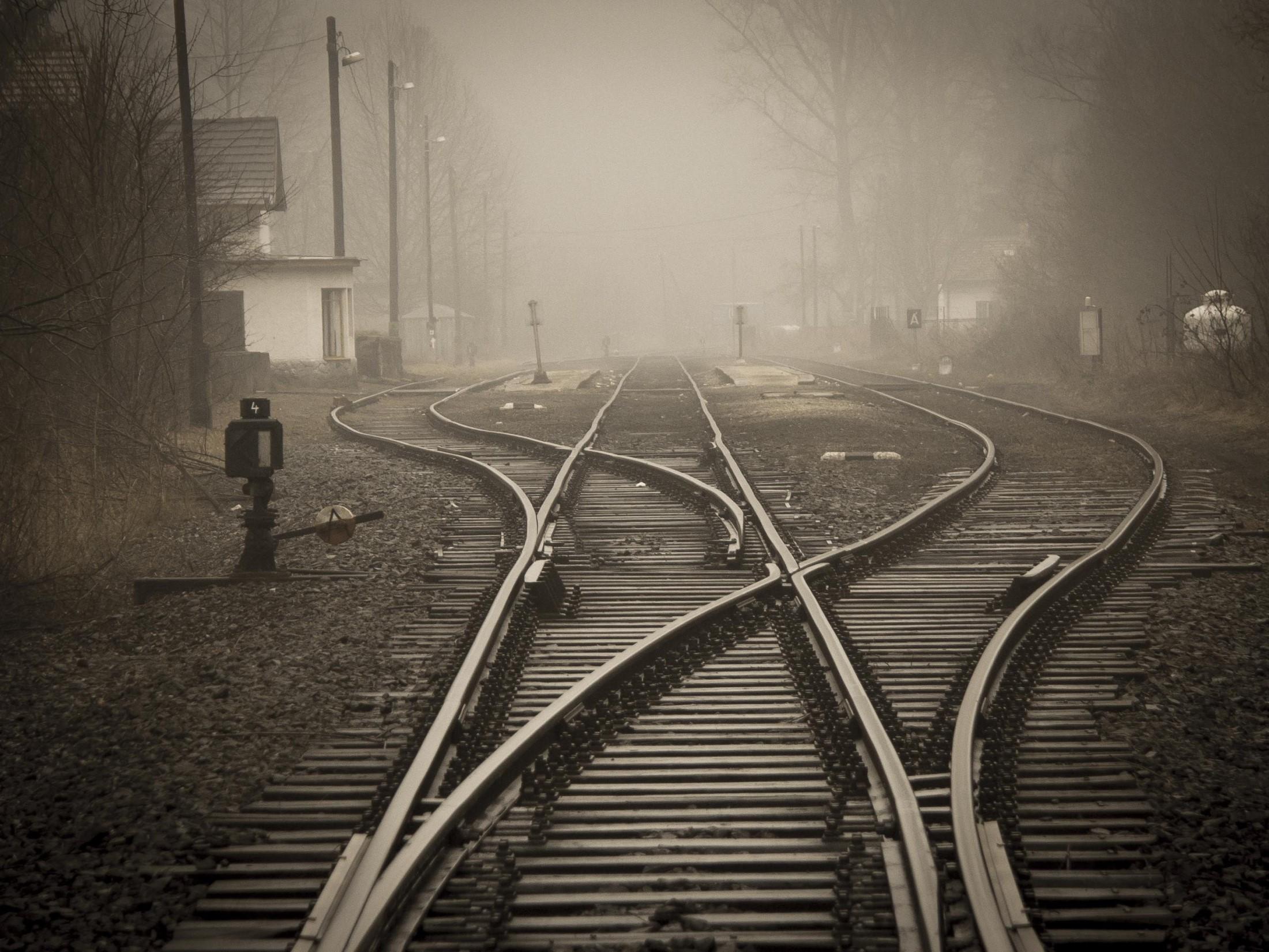 Railroad Tracks In City 258510