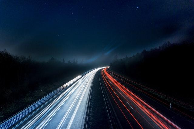 Light Trails On Highway At Night 315938